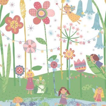 Wallquest Kinderzimmer Wandbild 'Fest der Feen' weiß/bunt