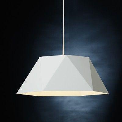 Edit Geometric Ceiling Pendant Light White White Pendant Light