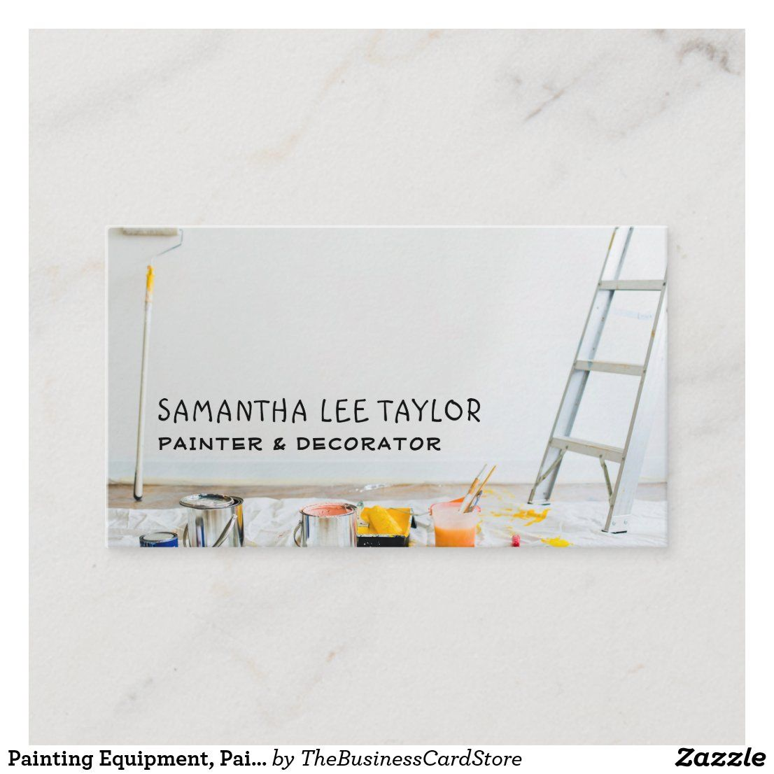 Painting Equipment Painter Decorator Business Card Zazzle Com Decorator Business Card Painter And Decorator Painter Business Card