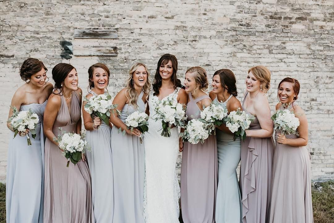 Mismatched Bridesmaid Dresses: 8 Ways