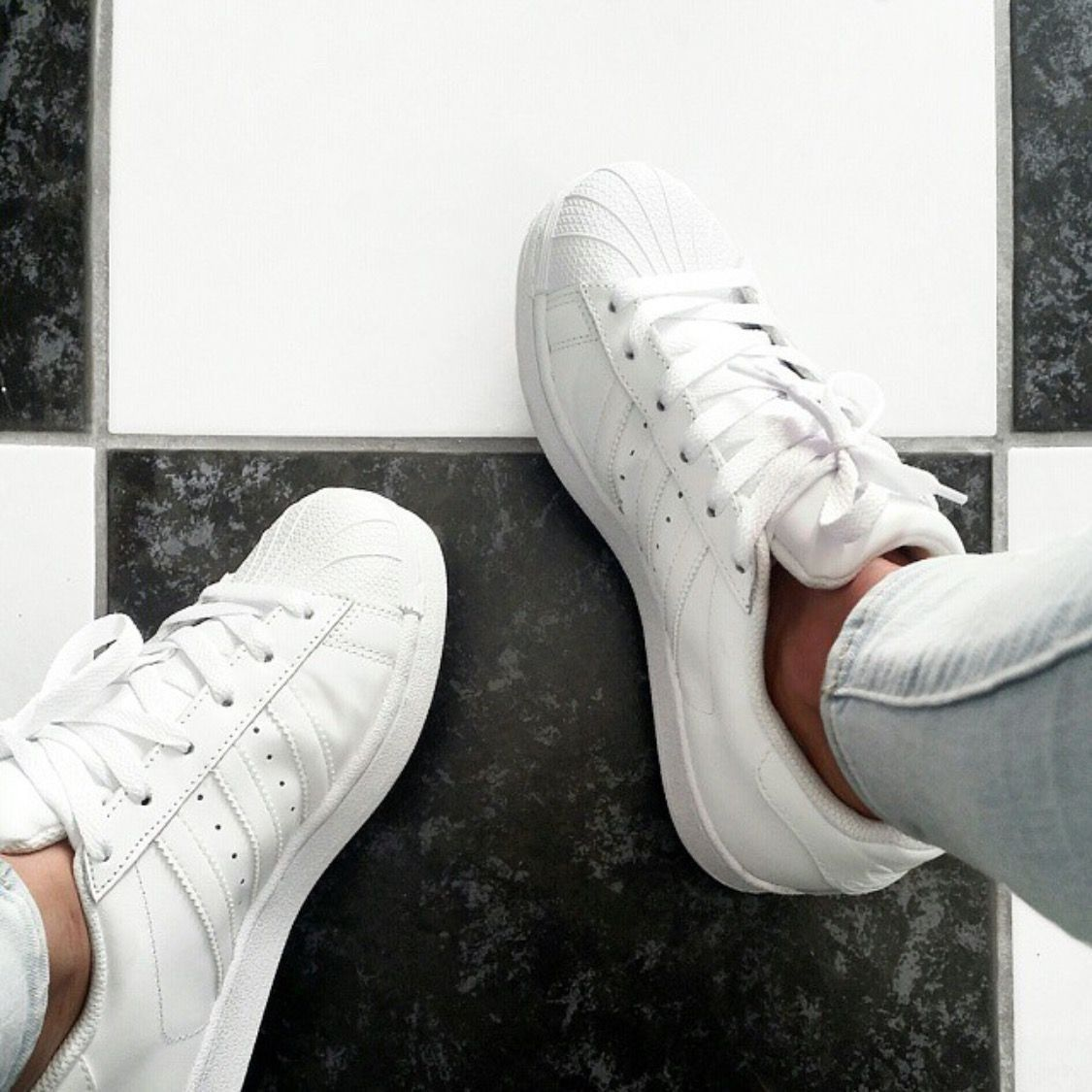 adidas superstar all white tumblr
