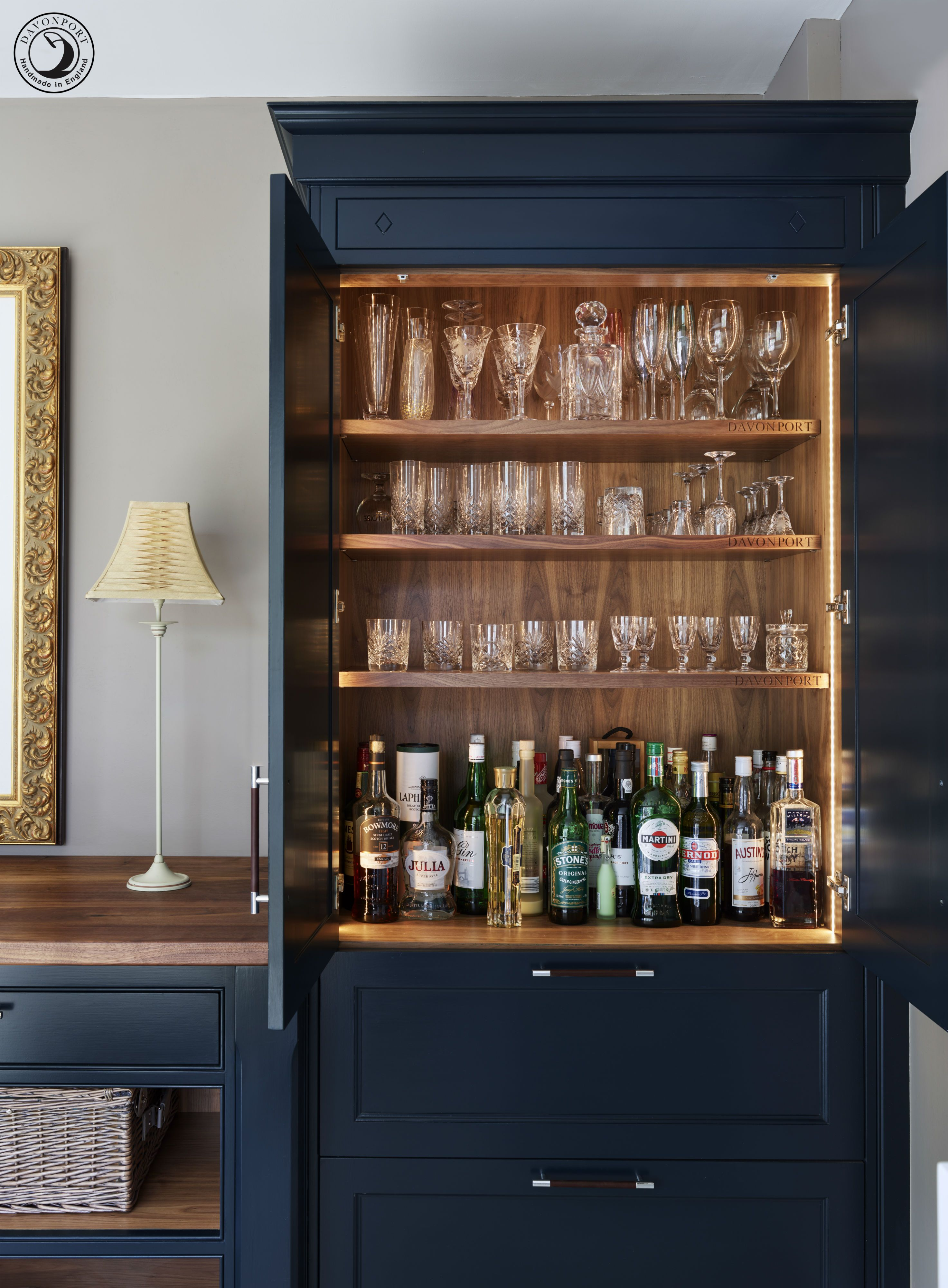This Drinks Cupboard Is The Ultimate Entertaining Kitchen Feature The Perfect Spot To Prepare A Friday Night D Home Bar Designs Bars For Home Home Bar Design