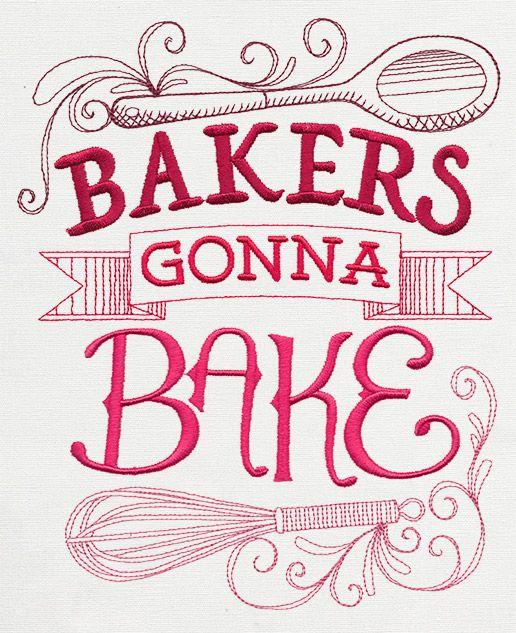 spice it up bakers gonna bake urban threads unique and awesome embroidery designs - Bakers Gonna Bake Kitchen Redwork Embroidery Designs