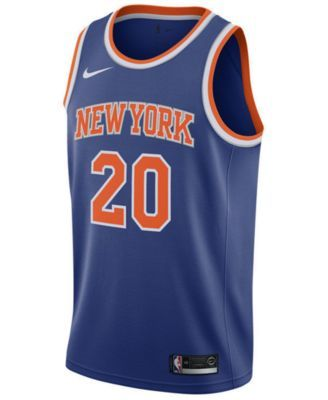 buy popular 278ff bbfe5 Nike Kevin Knox New York Knicks Icon Swingman Jersey, Big ...