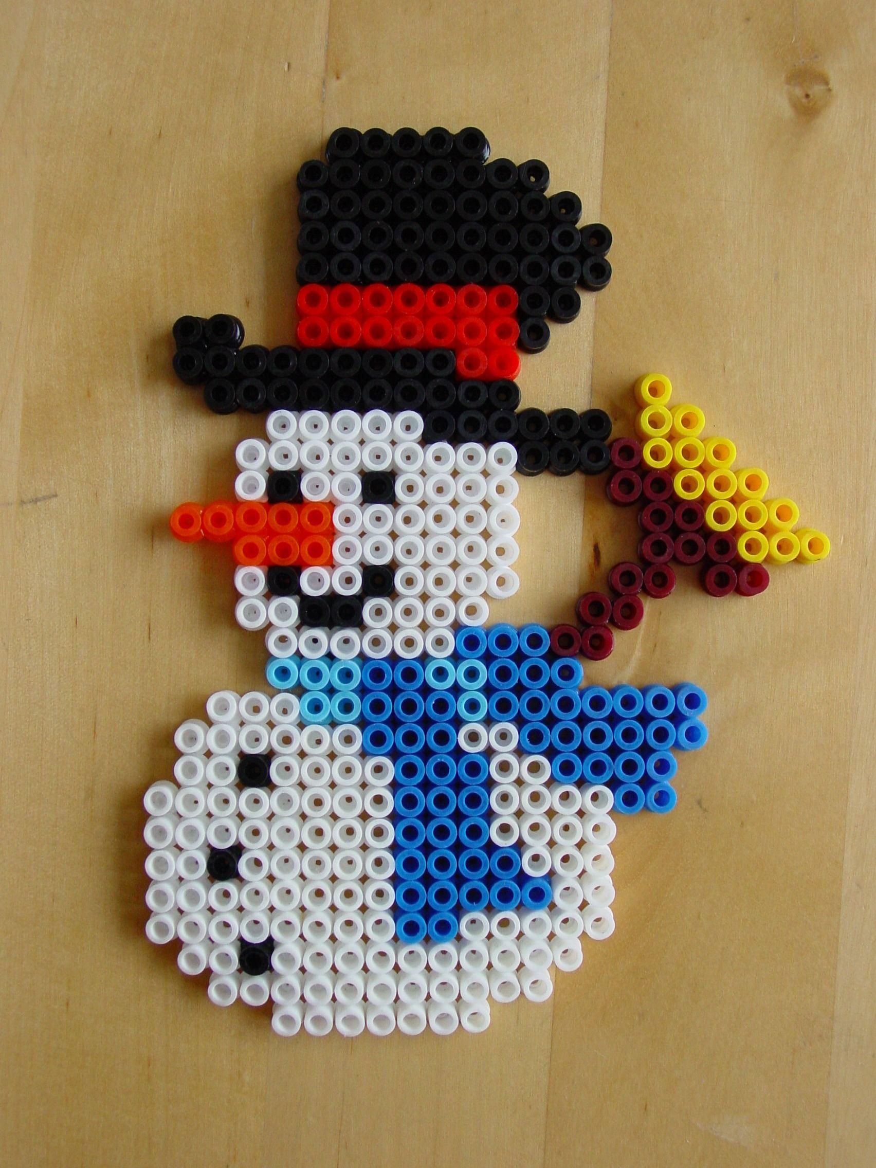 Snowman hama beads by Hester #hamajul