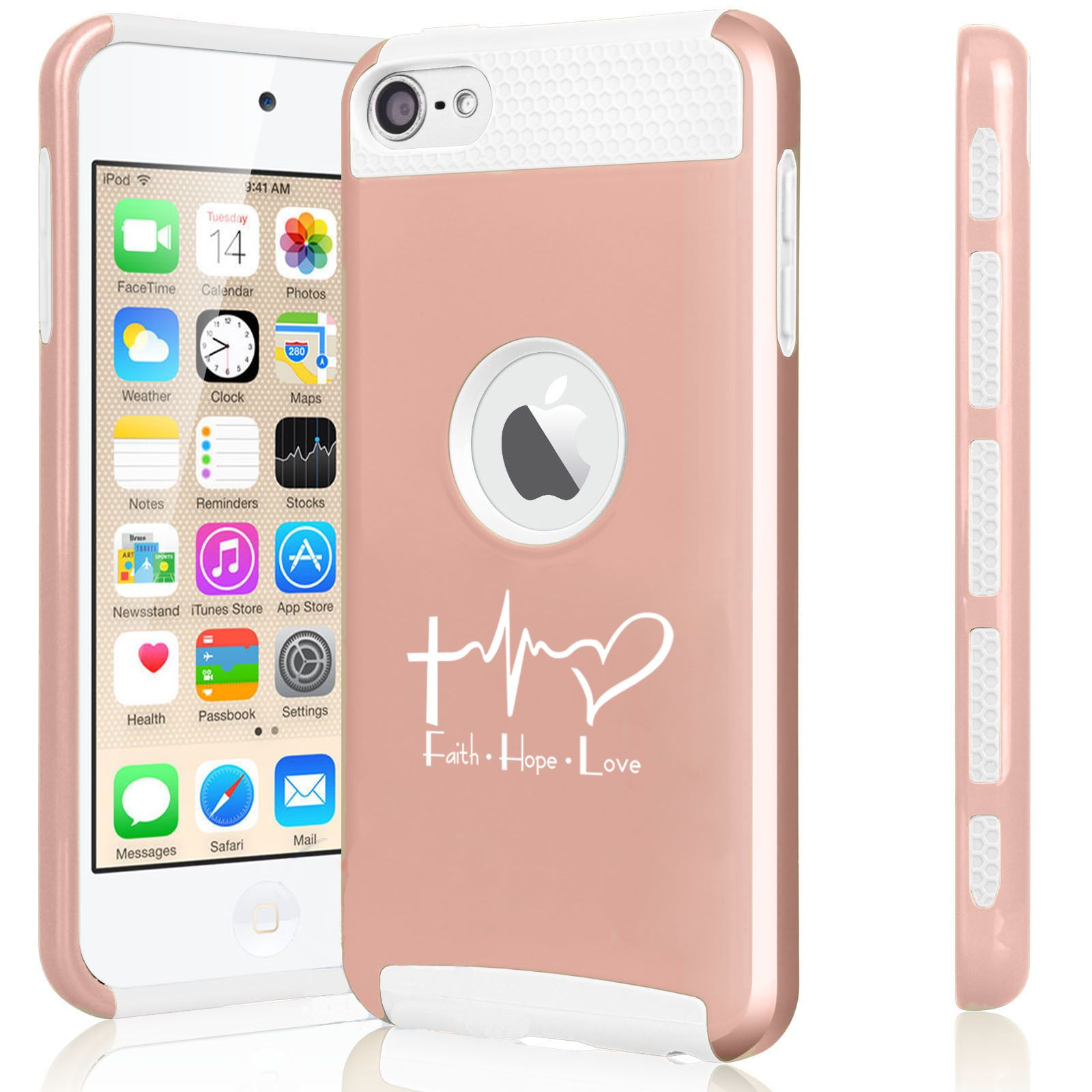 on sale ff38d badf3 $14.99 - For Apple Ipod Touch 5Th 6Th Shockproof Hard Case Faith ...