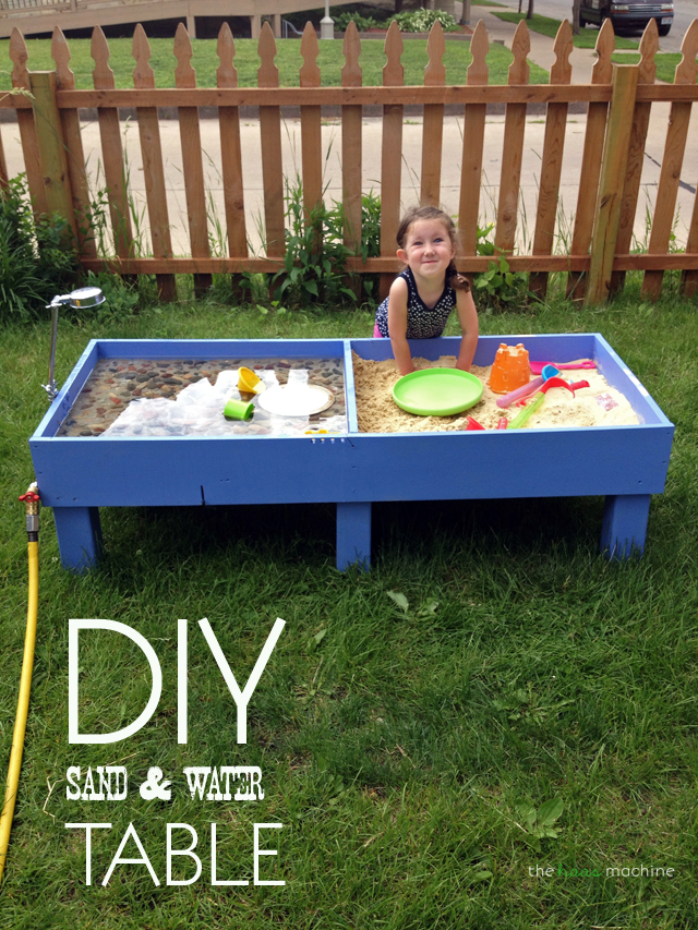 Diy Sand Water Table Backyard Kids Play Area Sand And Water Table Water Table