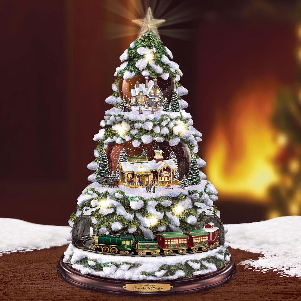 Christmas Tree Rotating Sculpture Train B In 2020 Christmas Tree Christmas Christmas Minis