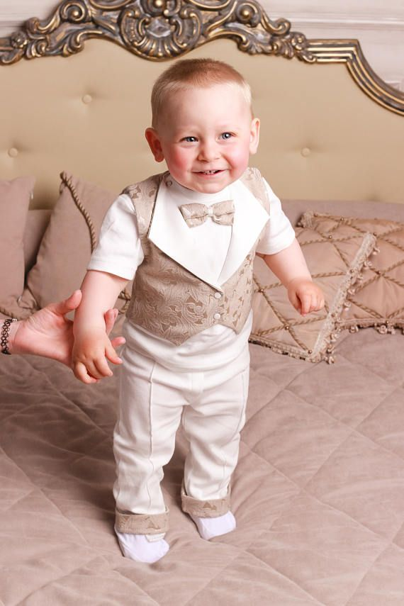 Baby Boys 3 Piece All in One Babygrow Romper with Quilted jacket /& Hat Outfit