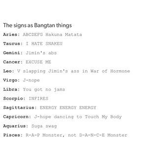 Image result for bts members zodiacs | BTS | Bts zodiac