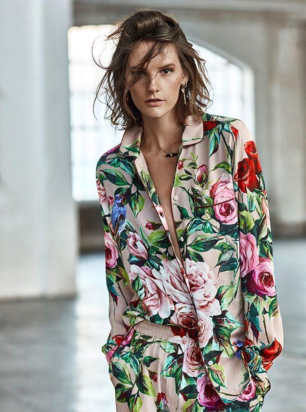 Sara Blomqvist Models Spring's Dreamiest Dresses in TELVA ...