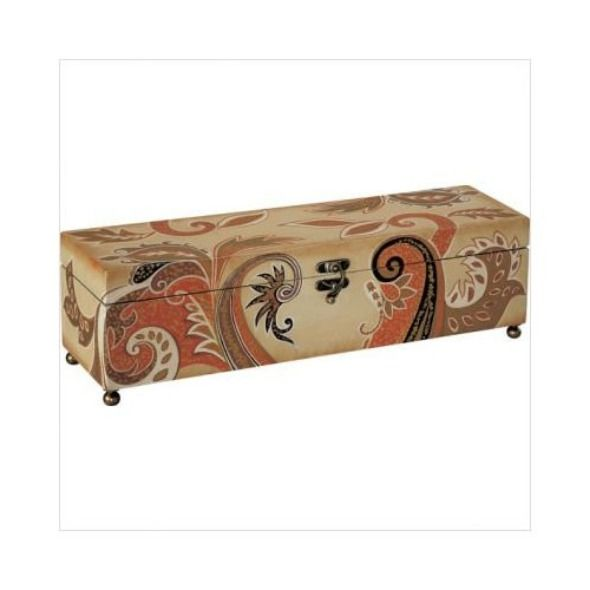 How To Make A Decorative Wooden Box: Attractive Natural Cool Wooden Hand Painted Box In Ivory