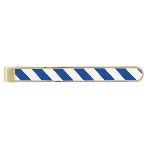 STRIPES Blue Tie Bar (white can be recolored)