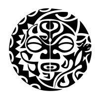 Sun Moon Lizard Fish Hook Twist Completeness Union Love - Simbolos-maories