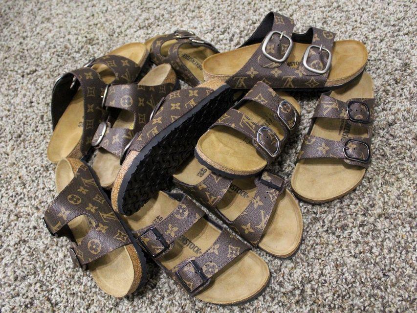Custom LV Birkenstocks