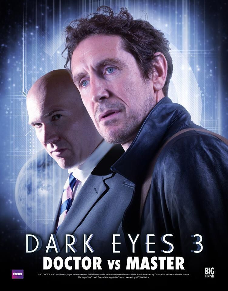 """first promo image for """"dark eyes 3,"""" which doesn't come out until november! agh! alex macqueen's take on the master is one of the great things big finish has accomplished in the last few years, and i'm eager to hear macqueen and mcgann go at it - more than the brief scenes they got in february's """"dark eyes 2."""" 