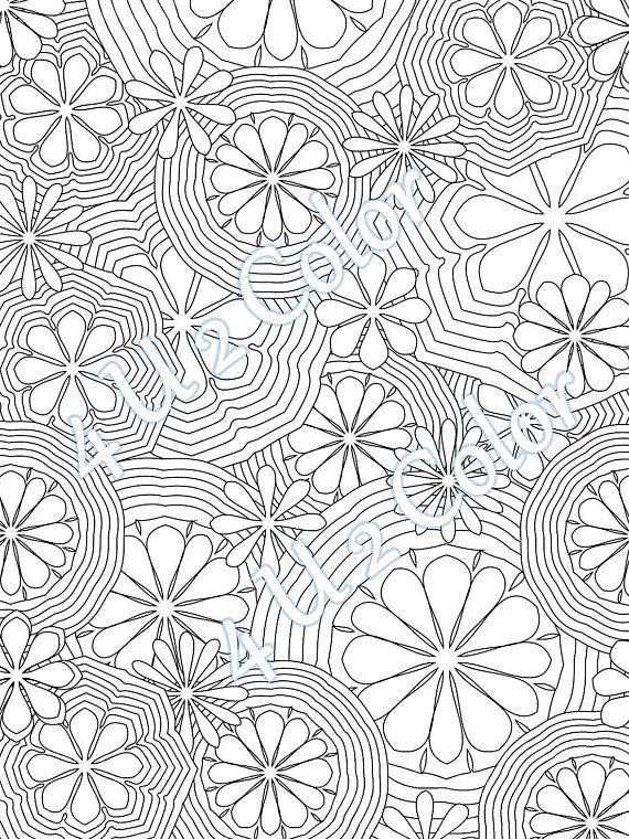 Flower Power 1 Coloring Page Flower Power Coloring Page