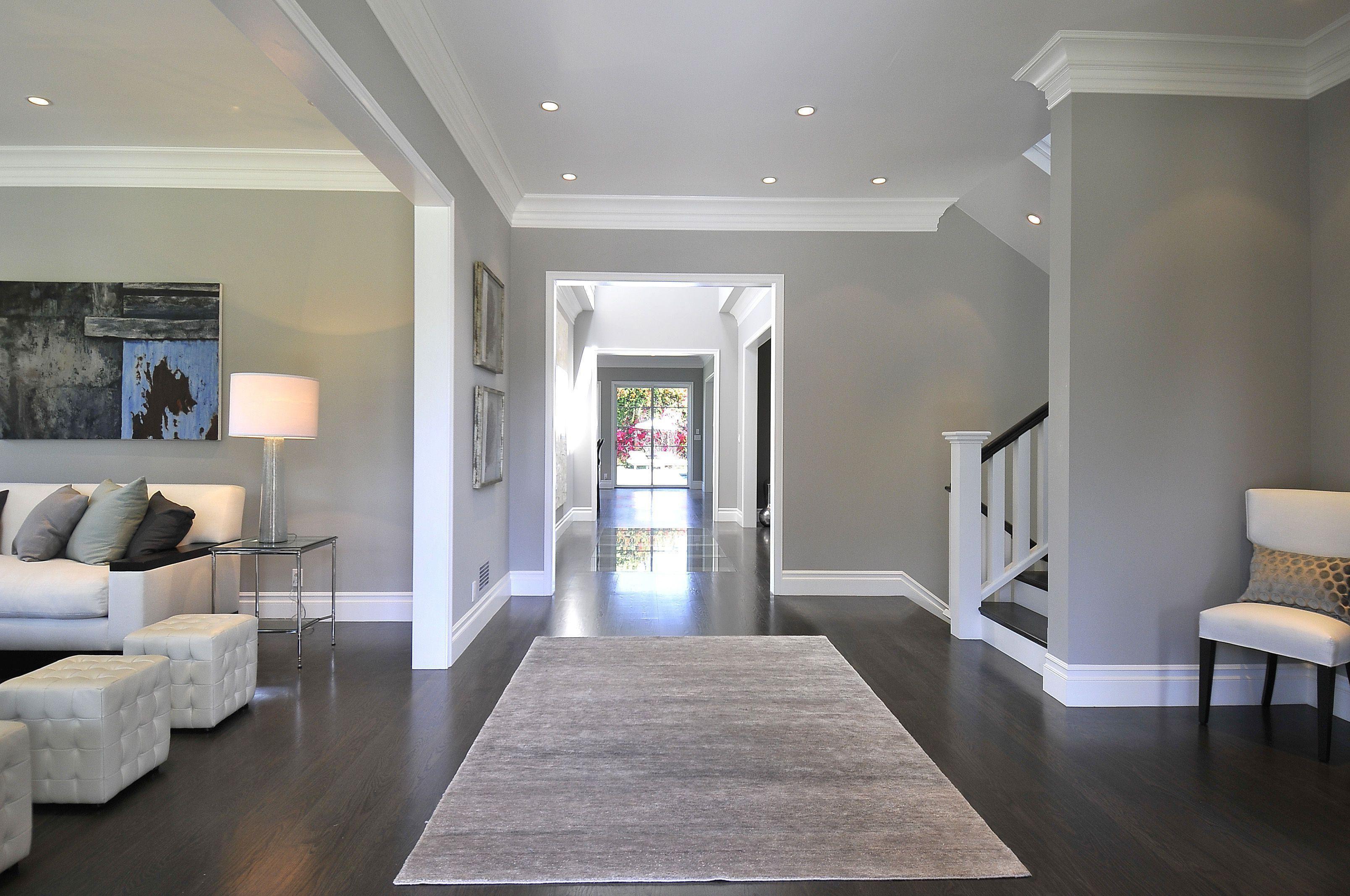 Beautiful Dark Floors Grey Walls | Grey walls, House ...