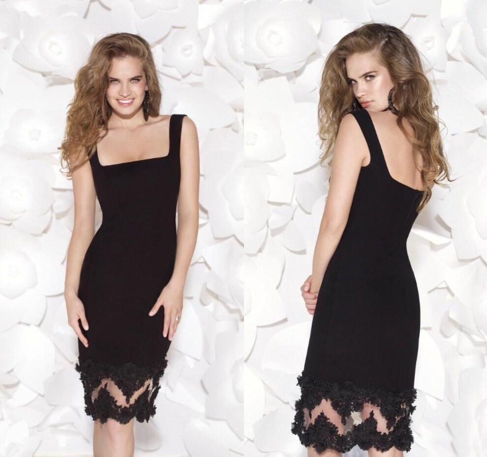 New knee length cocktail dresses tarik ediz short prom dresses