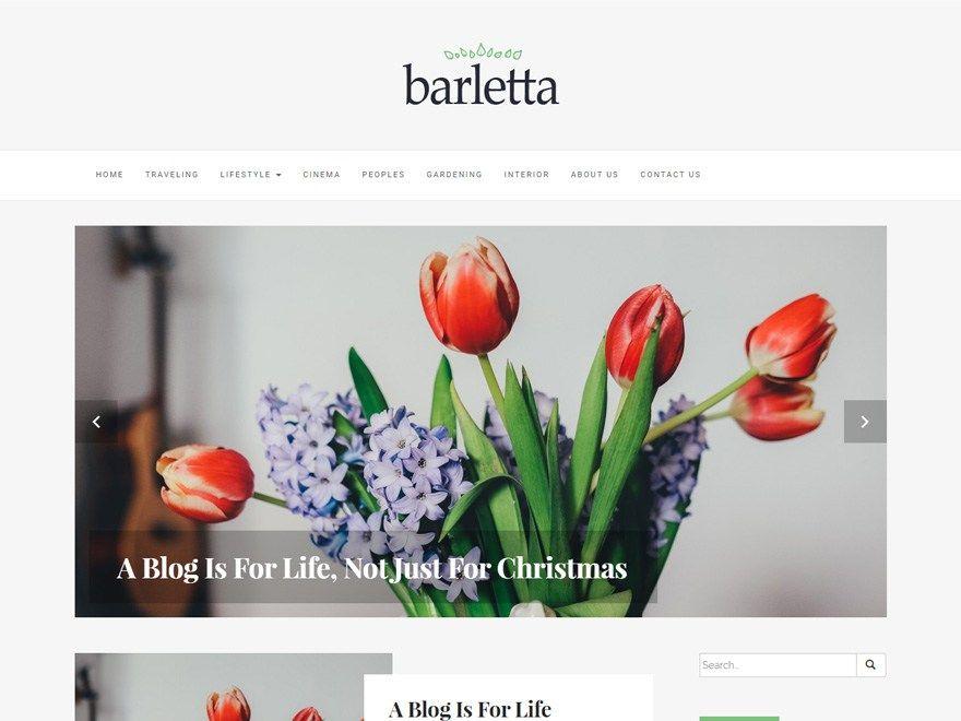 Barletta — Free WordPress Themes | Website Ideas | Pinterest ...