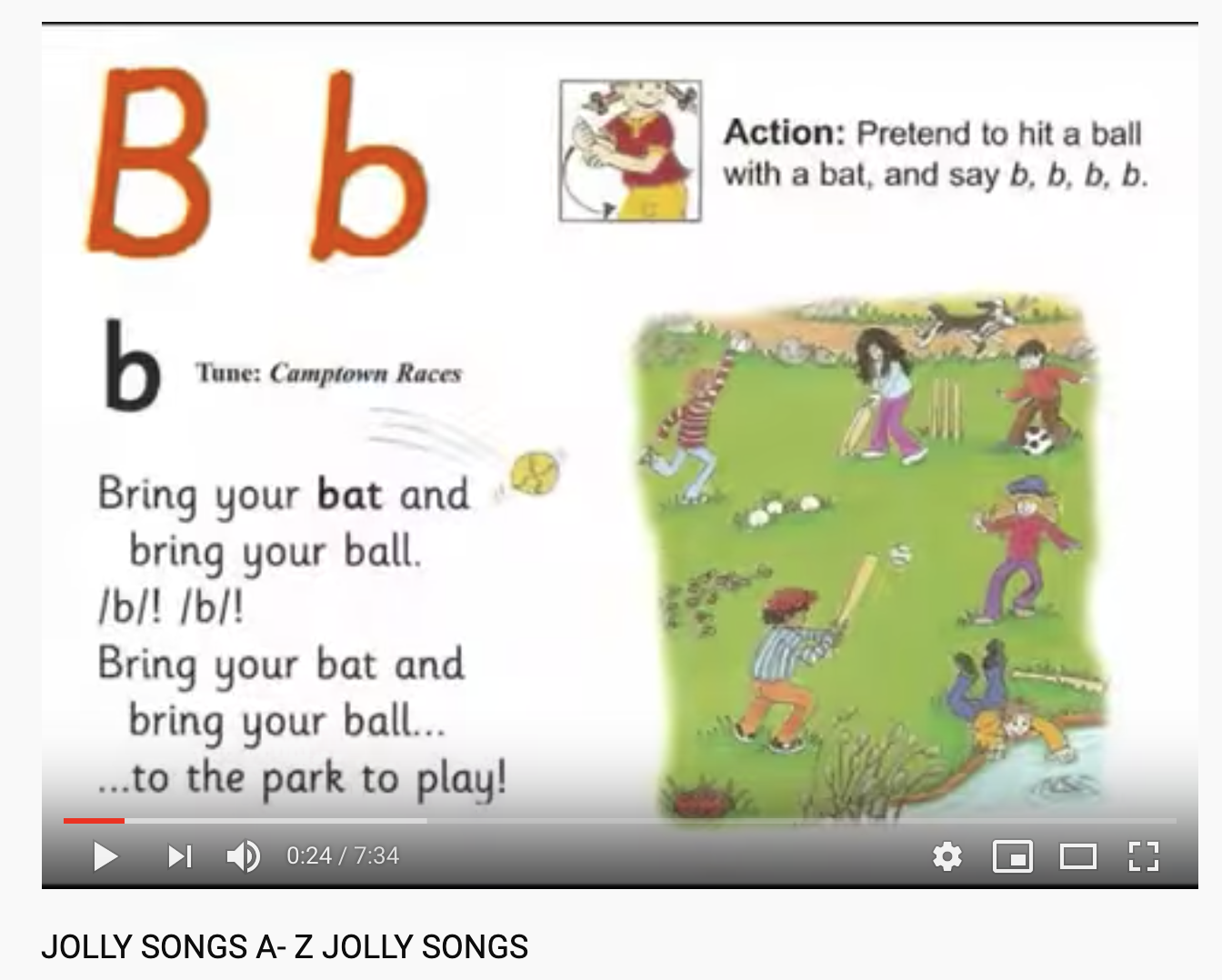 Jolly Phonics Is A Program That Associates Songs And