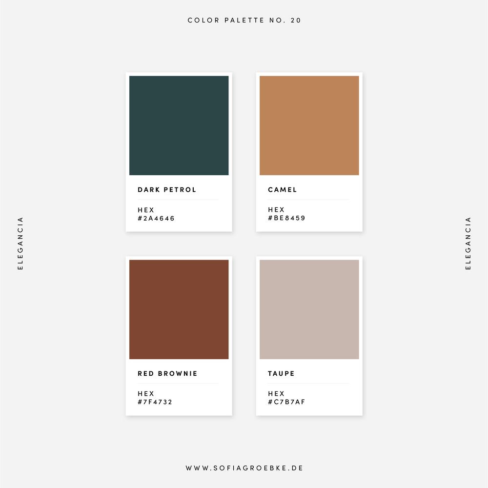 Farbpaletten, Farbkombinationen, Colors 2020