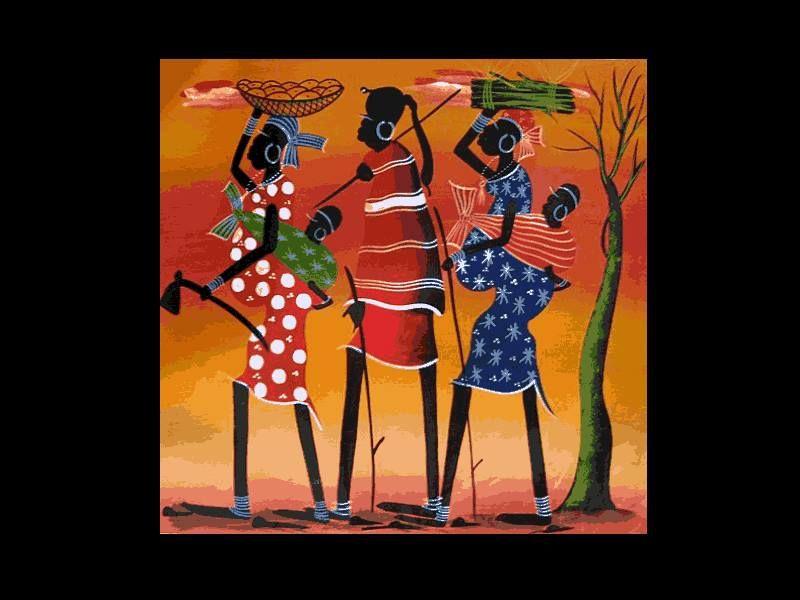 Três mulheres....com os filhotes