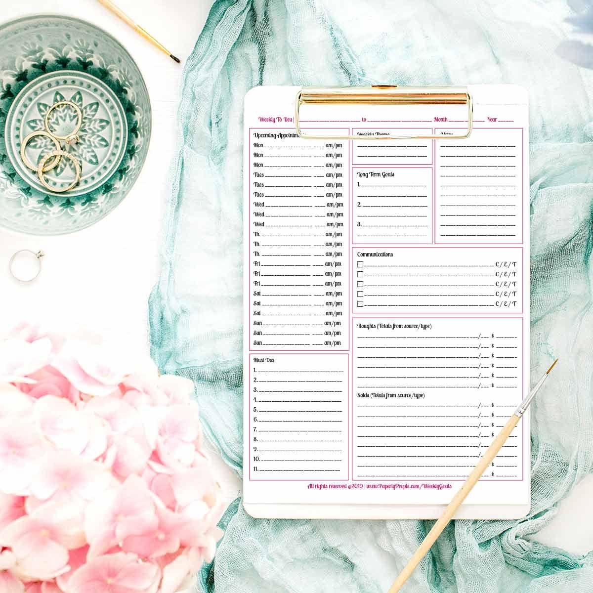 Printable Planner Calendar System For Staples Arc System