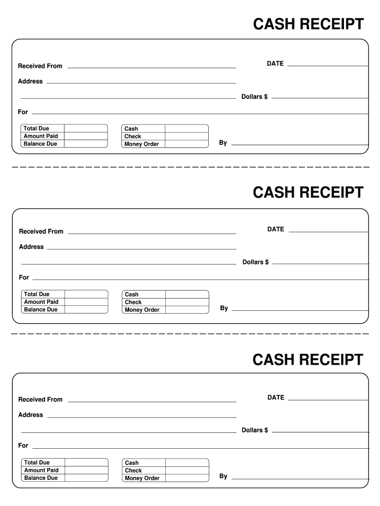 Receipt Template Fill Online Printable Fillable Blank Pdffiller Free Receipt Template Receipt Template Invoice Template