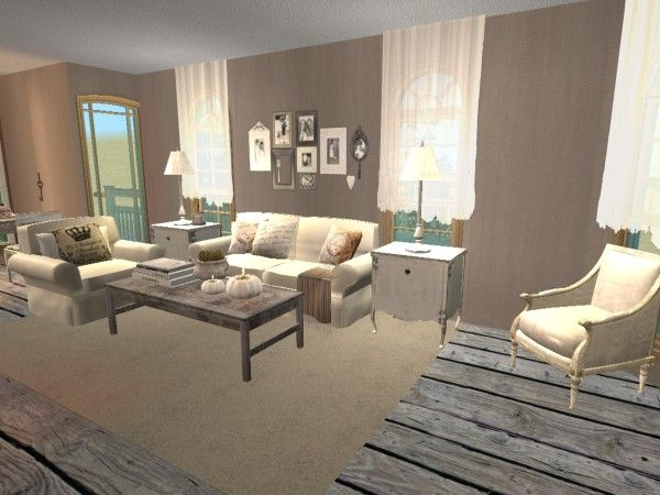Brocante Living Room. Virtual Room Design Home Décor using ...