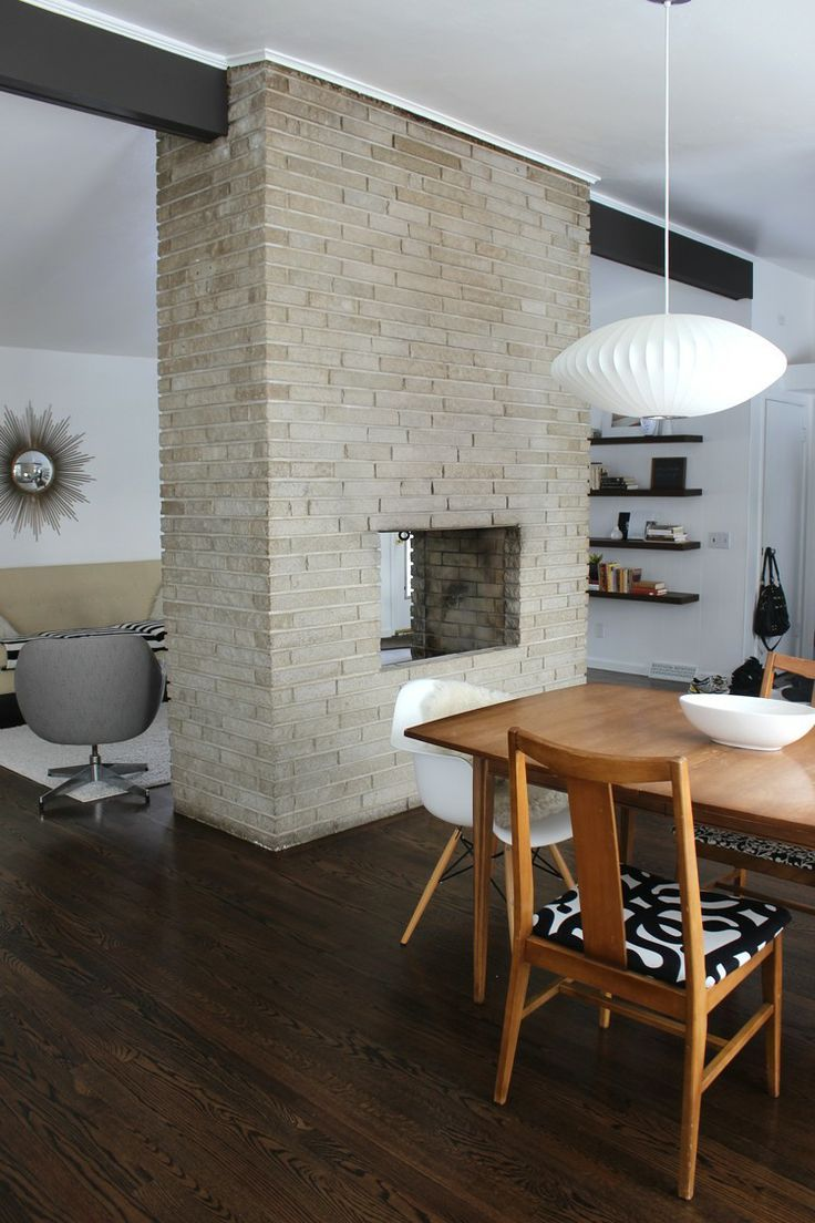 Nice Danish Modern Fireplace Part - 14: 10 Easy Ways To Add A Mid-Century Modern Style To Your Home