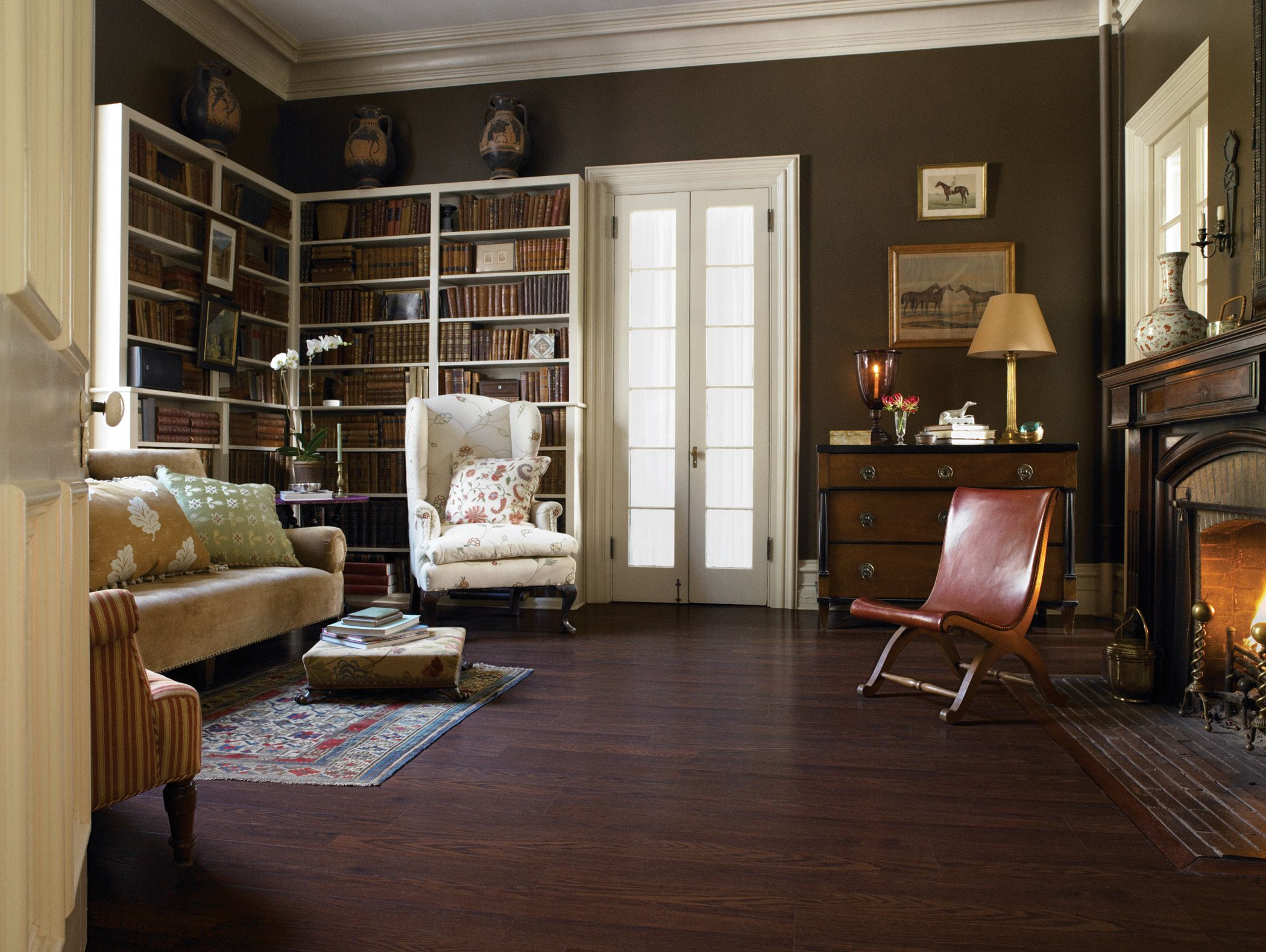 amazing bedroom hardwood floors | pergo berkshire oak laminate flooring. Gorgeous. This room ...