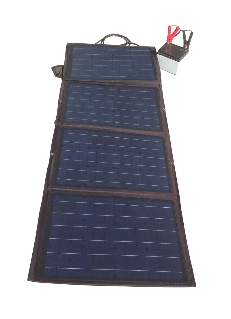 120w Flexible Fabric Foldable Solar Panel Kit Monocrystalline Solar Panel Kits Solar Led Trailer Lights