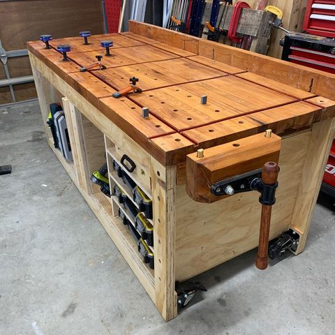 Nice bench from New Zealand following my plans ...