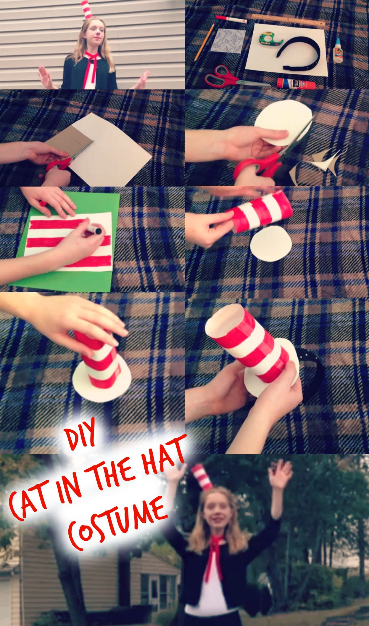 Diy Cat In The Hat Costume Diy Hat Headband Zayleigh Disfraces