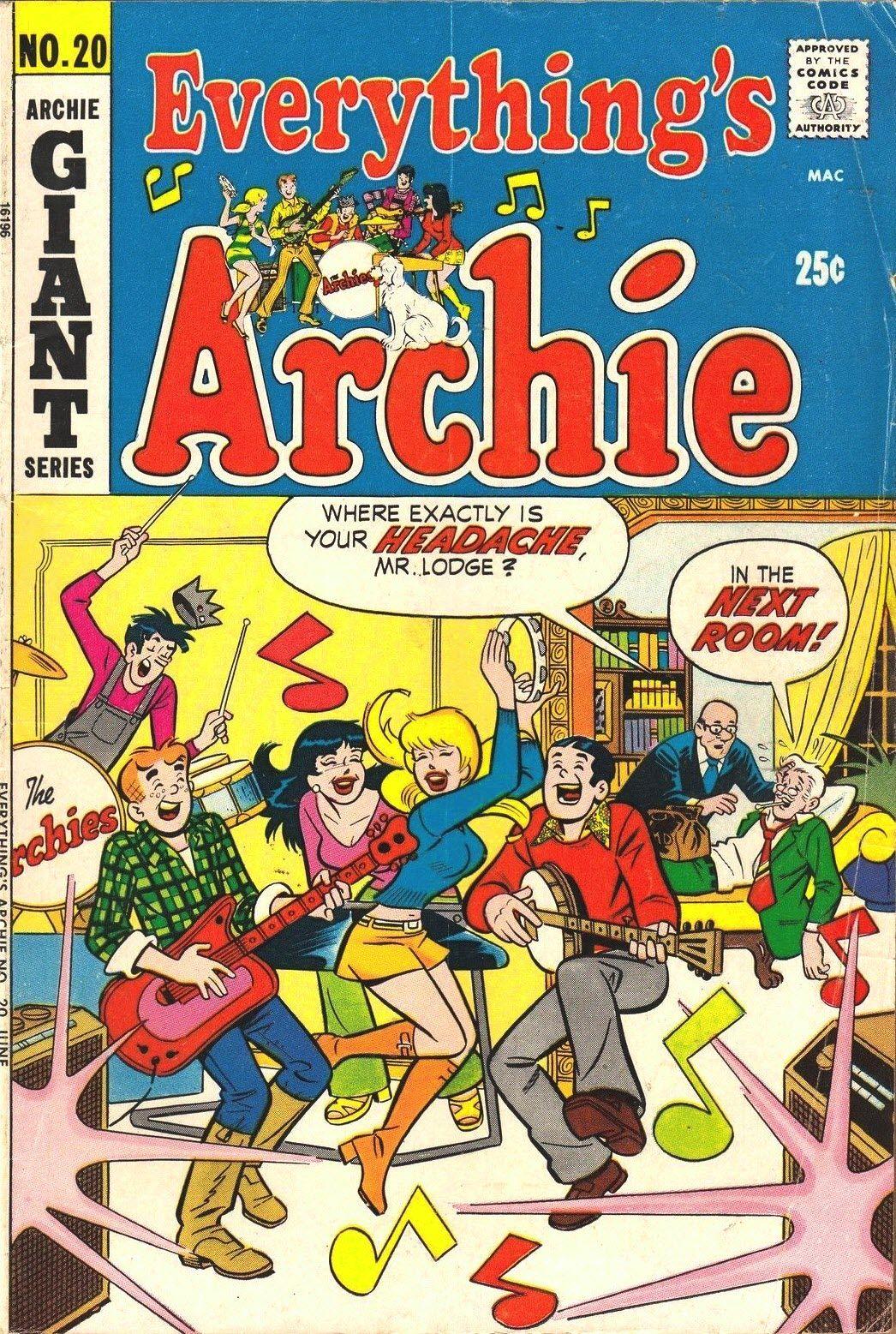 June 1972 | Archie and Pals | Comic tattoo, Archie comics, Comic books