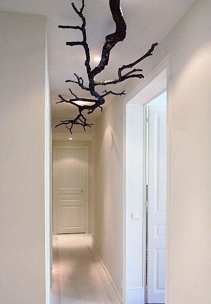Zimmerdecken Dekoration Aus Asten Und Zweigen Zimmerdecke
