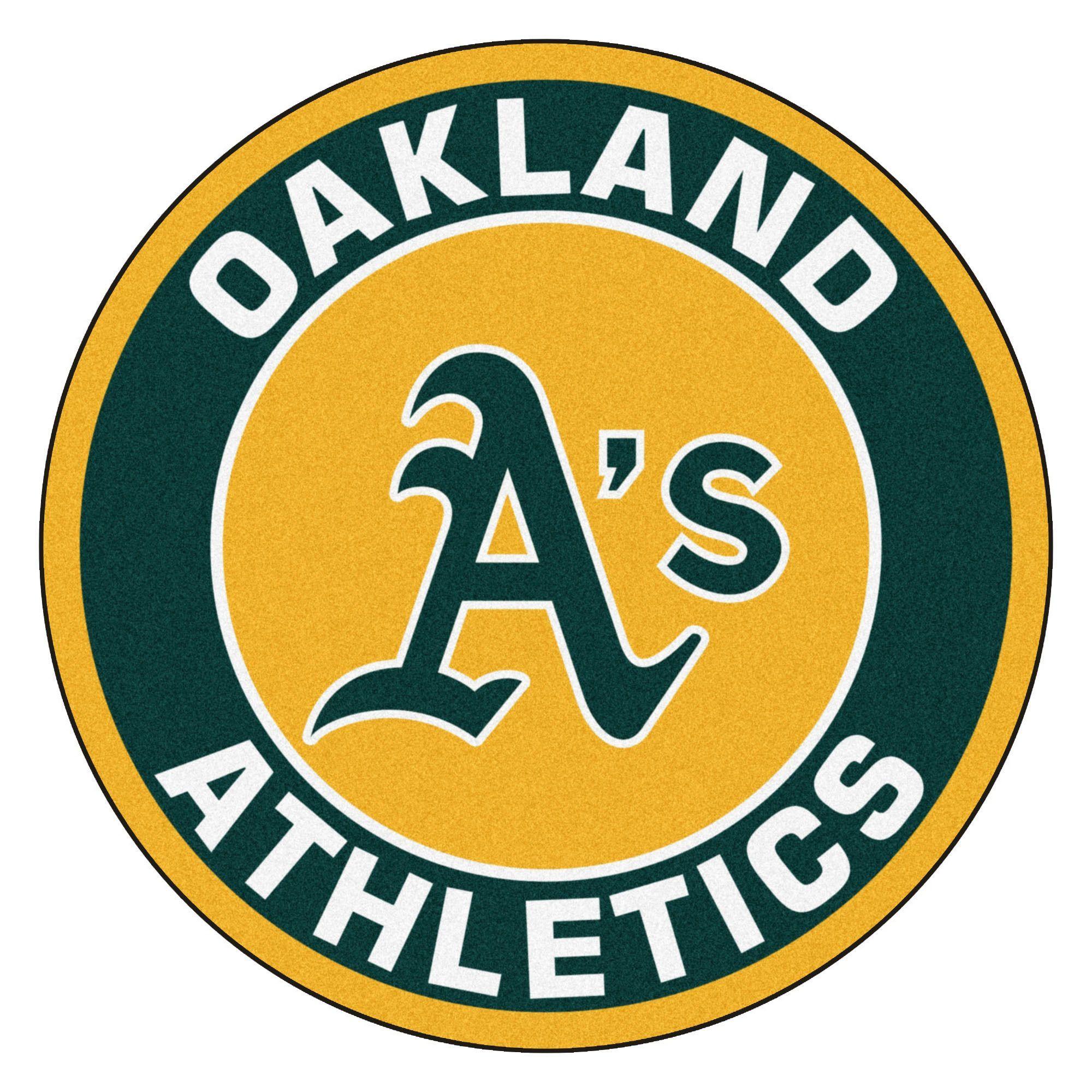Fanmats MLB Oakland Athletics and Green Nylon Roundel Mat