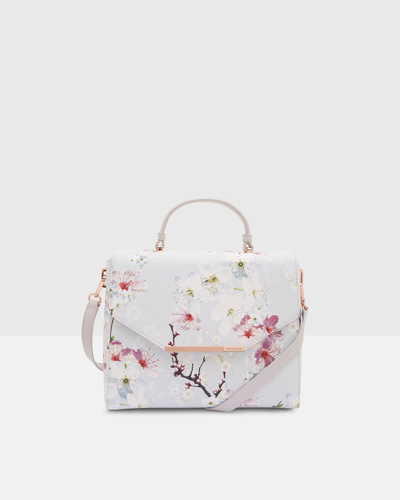 ee6f92956e0 Oriental Blossom tote bag - Light Gray | Bags | Ted Baker | Bag ...