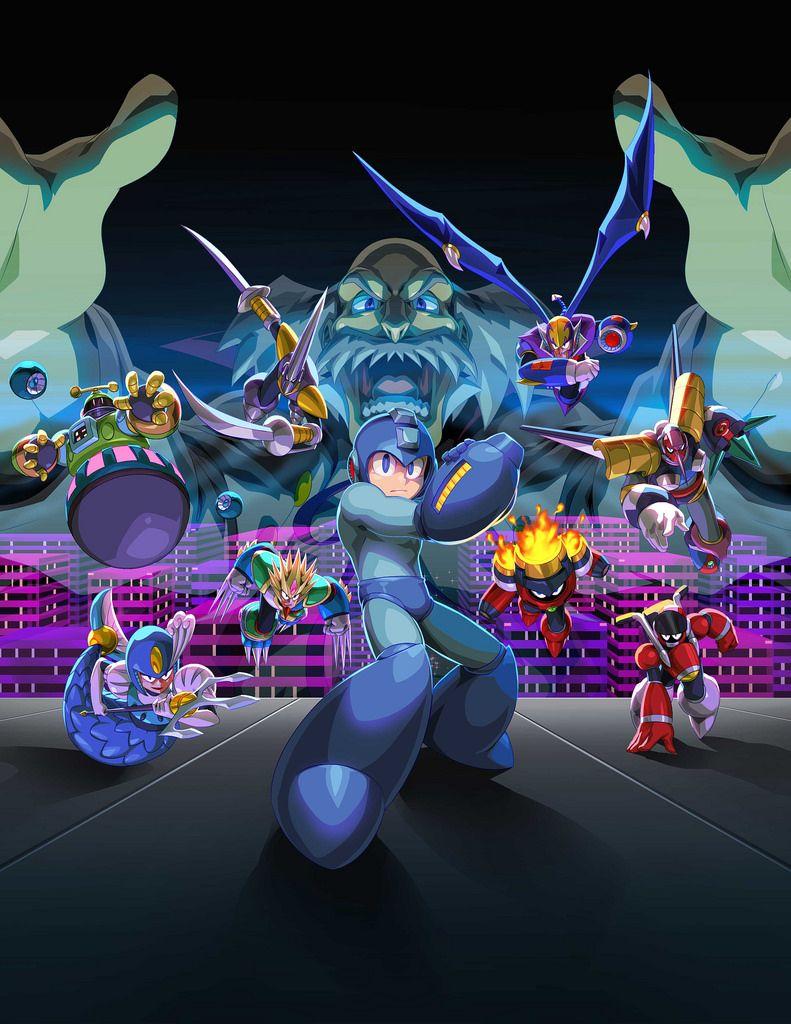 Mega Man Legacy Collection 2 New Ps4 Theme Designed By Udon Free For Pre Orders Mega Man Mega Man Legacy Mega Man Art