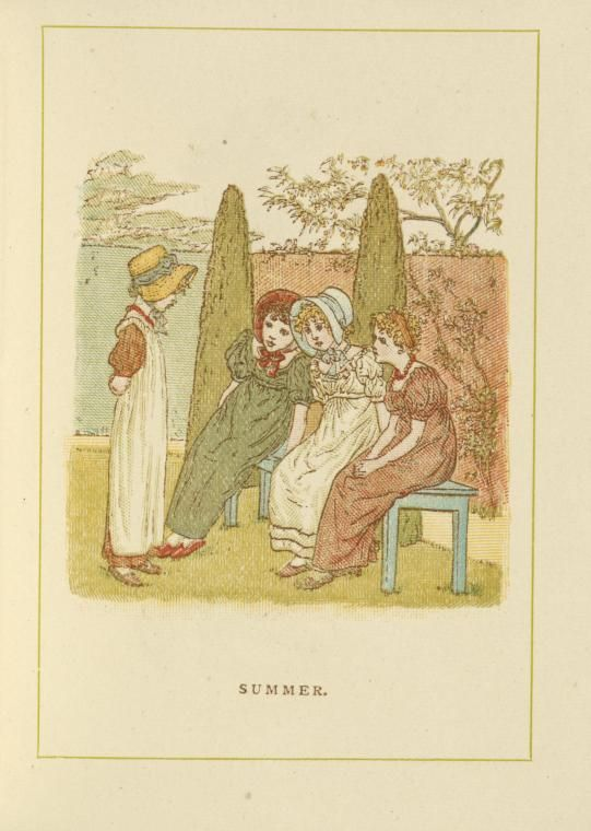 Summer - Kate Greenaway's Almanack for 1886