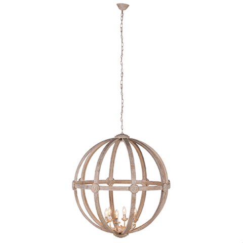 Extra Large Round Wooden Orb Chandelier Ceiling Lights Wooden