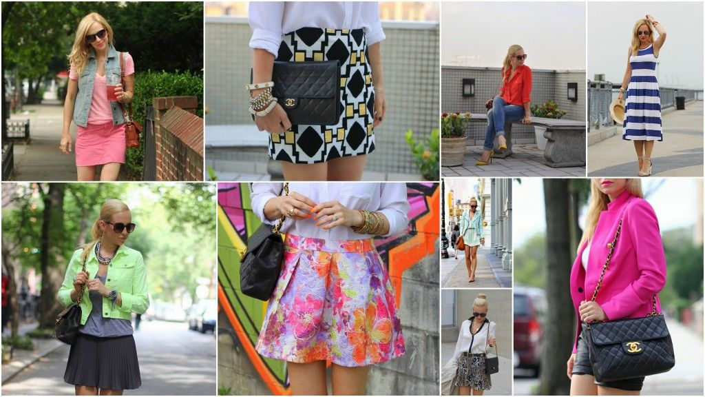 Bright colors and prints from The Brooklyn Blonde!