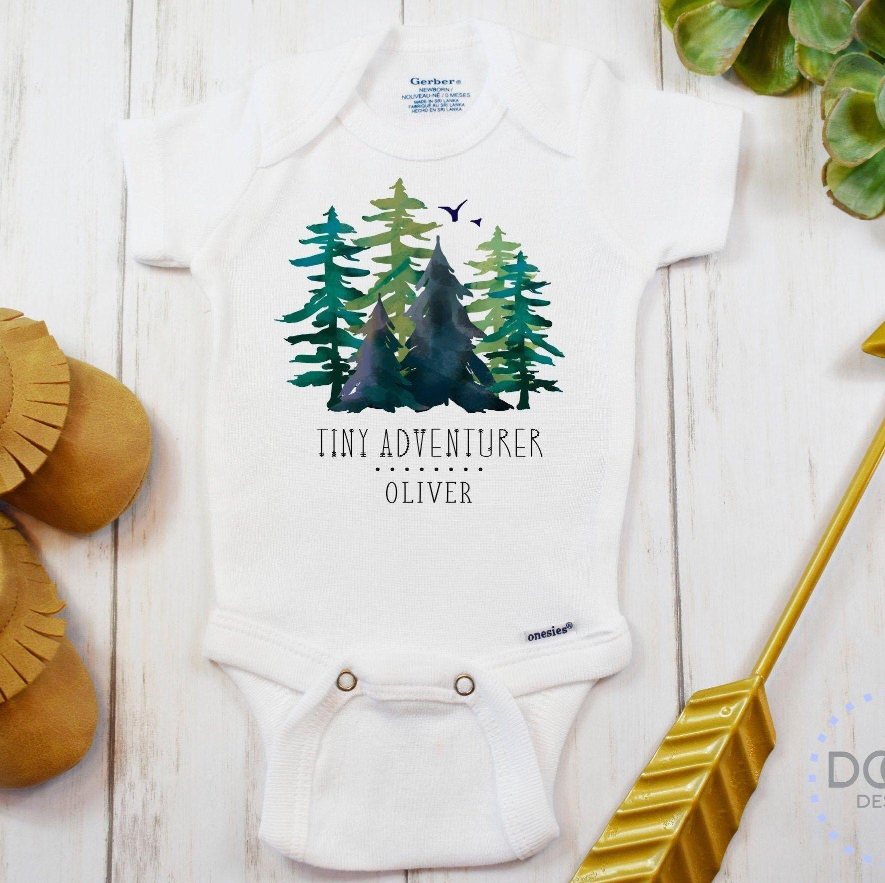 Personalized Baby Gift Plaid Boy Onesies Deer Antlers And Plaid Bow Tie Onesie Baby Gift Onesies
