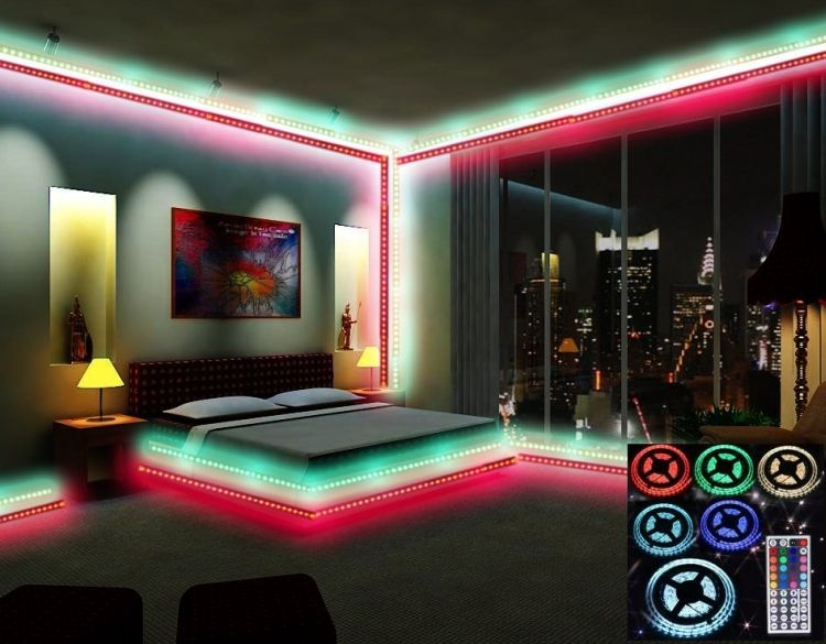 Waterproof 150 Color Changing Led Lighting Strip Kit Color