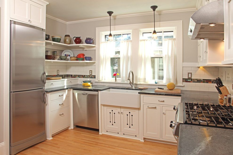 minneapolis craftsman style kitchen with custom cabinet ...