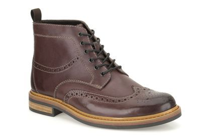 Mens Formal Boots - Darby Rise in Burgundy Leather from Clarks shoes