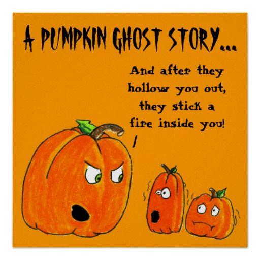 PUMPKIN GHOST STORY HALLOWEEN print Happy