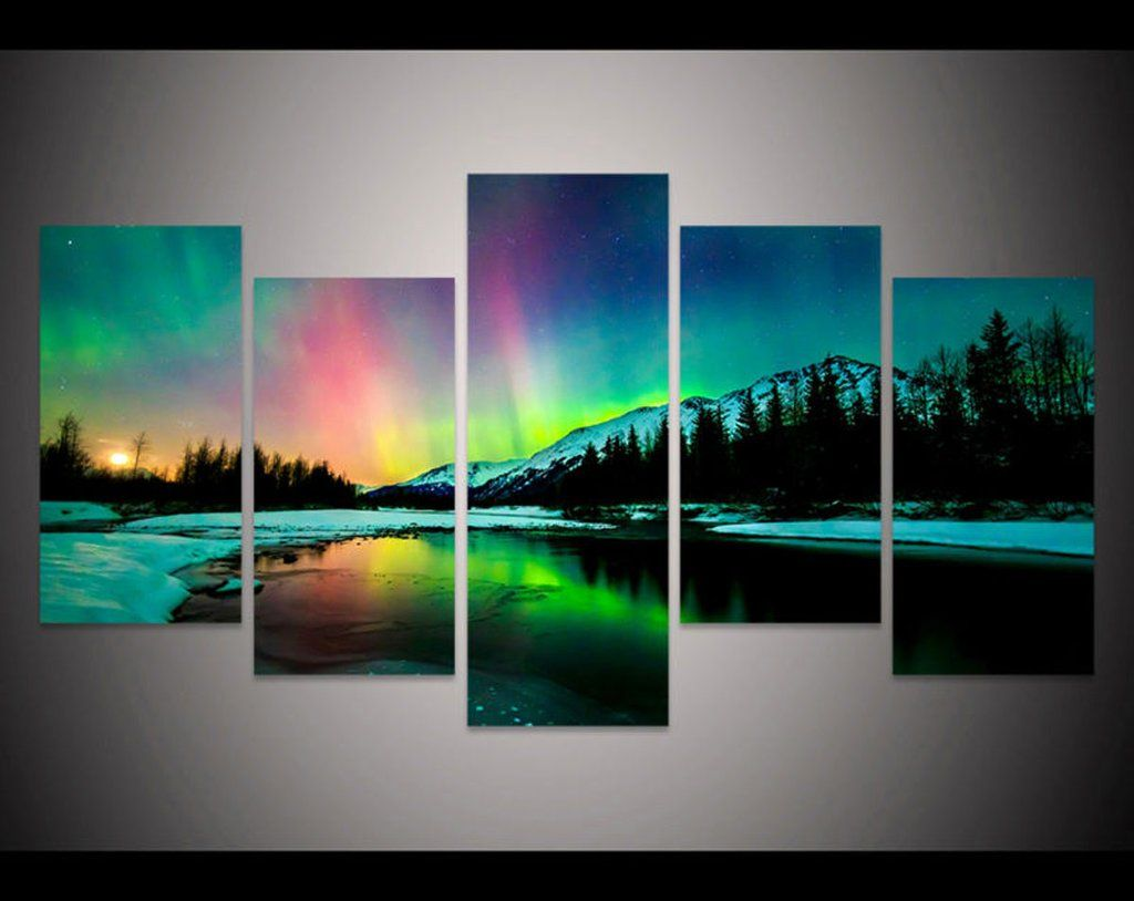 Do You Love The Aurora Get Your Northern Lights In Alaska Canvas Print Today O Aurora Borealis Painting Aurora Borealis Art Painting Aurora Borealis Wall Art