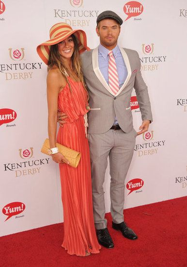 bc5bc22947761 Tom Brady and Ashton Kutcher Break Out Their Best For Kentucky Derby ...